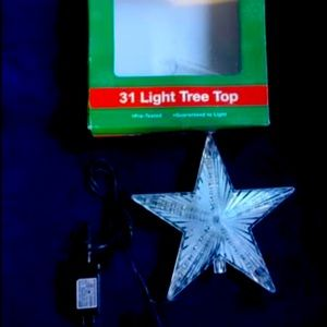 Beautiful LED Christmas tree star topper